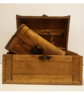 Pack of wooden briefcases