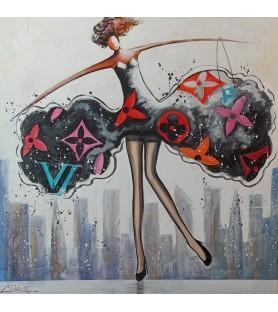 Black multicolored woman