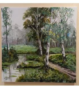 Bosque con rio